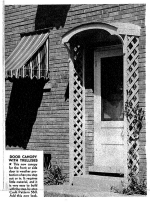 Door Canopy with Trellises Vintage Woodworking Plan