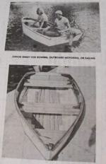 R-ANH0633 - Junior Dinghy Boat Vintage Woodworking Plan
