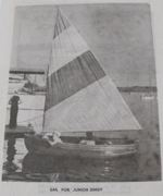 R-ANH0635 - Sail for Junior Dinghy Vintage Woodworking Plan