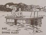 Diving Float Platform Vintage Woodworking Plan, diving platform,lake,cottage,floats,docks,piers,full sized patterns,vintage woodworking plans,old projects,recycled,woodworkers projects,blueprints,drawings,blueprints,how-to-build