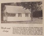 Week-End Lodge Vintage Woodworking Plan, cottages,cabins,buildings,workshops,full sized patterns,vintage woodworking plans,old projects,recycled,woodworkers projects,blueprints,drawings,blueprints,how-to-build