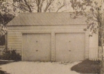 Two-Car Utility Garage Vintage Construction Plan.