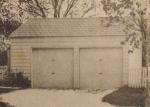 Two-Car Utility Garage Vintage Construction Plan.