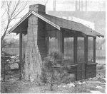 fee plans woodworking resource from WoodworkersWorkshop® Online Store - barbecue shelters,screened in barbeques,bbq huts,full sized patterns,vintage woodworking plans,old projects,recycled,woodworkers projects,blueprints,drawings,blueprints,how-to-build