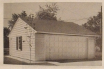 A Two-Car Garage with Eaves Overhang Vintage Woodworking Plan