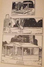 Playroom-Sandbox-Pool-and-Shower Vintage Woodworking Plan