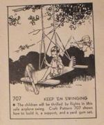 Keep Em Swinging Vintage Woodworking Plan.