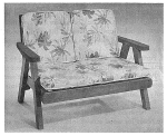 Comfortable Redwood Two-Seater Vintage Woodworking Plan