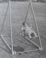 Roll-Around Swing Vintage Woodworking Plan, roll around swing,playground equipment,swing set,childrens,kids,childs,playtime,playing outdoors,full sized patterns,vintage woodworking plans,old projects,recycled,woodworkers projects,blueprints,dra