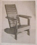 R-ANH0766 - A Knock-Down Lawn Chair with Basketweave Back Vintage Woodworking Plan