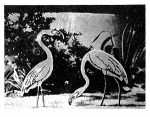 R-ANH0770 - A Pair of Flamingoes Vintage Woodworking Plan