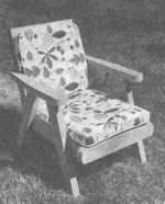 A Lawn Chair Built of Redwood Vintage Woodworking Plan