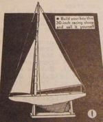 R-ANH0804 - Albatross Racing Sloop Vintage Woodworking Plan