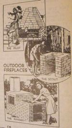 3 Outdoor Fireplaces Vintage Woodworking Plan.