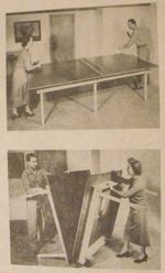 R-ANH0941 - A Folding Roll-Away Tennis Table Vintage Woodworking Plan