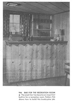 Bar for the Recreation Room Vintage Woodworking Plan
