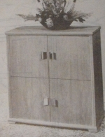 Card Table and Chairs Cabinet Vintage Woodworking Plan
