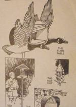 4 Bird Feeder Vintage Woodworking Plan, birdfeeders,suet,stations,geese,goose,full sized patterns,vintage woodworking plans,old projects,recycled,woodworkers projects,blueprints,drawings,blueprints,how-to-build