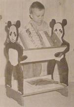 R-ANH1024 - Panda Book Rack Vintage Woodworking Plan