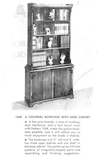 Colonial Bookcase with Base Cabinet Vintage Woodworking Plan