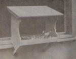 Window Bird Feeder Vintage Woodworking Plan