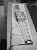Toy Soldier Vintage Woodworking Plan, toy solider,military,Christmas,decorations,full sized patterns,vintage woodworking plans,old projects,recycled,woodworkers projects,blueprints,drawings,blueprints,how-to-build