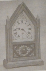 Steeple Clock Vintage Woodworking Plan, steeple clocks,mantle clocks,full sized patterns,vintage woodworking plans,old projects,recycled,woodworkers projects,blueprints,drawings,how-to-build