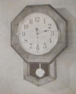 School Clock Vintage Woodworking Plan.