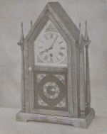 Twin Steeple Shelf Clock Vintage Woodworking Plan.