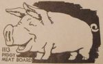 R-ANH1113 - Piggy Meat Board Vintage Woodworking Plan