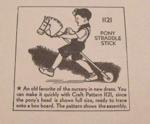 R-ANH1121 - Pony Straddle Stick Vintage Woodworking Plan.