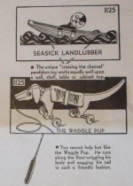 Seasick Landlubber and Waggle Pup Vintage Woodworking Plan woodworking plan