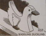 Waddling Duckling Vintage Woodworking Plan.
