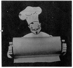 The Chef Will Hold Your Paper Towel Vintage Woodworking Plan