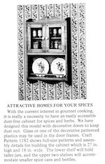 Spice Cabinet Vintage Woodworking Plan