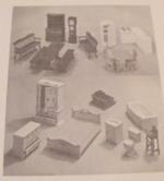 Doll House Furniture Vintage Woodworking Plan, dollhouse furniture,miniature,scale model,full sized patterns,vintage woodworking plans,old projects,recycled,woodworkers projects,blueprints,drawings,blueprints,how-to-build