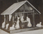 R-ANH1202 - Christmas Manger Vintage Woodworking Plan