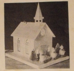 R-ANH1209 - Musical Church with Stained Glass Decals Vintage Woodworking Plan.