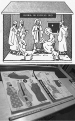 R-ANH1228 - Scene of the Nativity Vintage Woodworking Plan - One Quarter Life Size