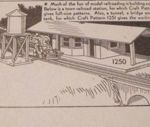 R-ANH1250 - Model Railroad Depot Vintage Woodworking Plan