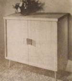A Record Storage Cabinet Vintage Woodworking Plan.