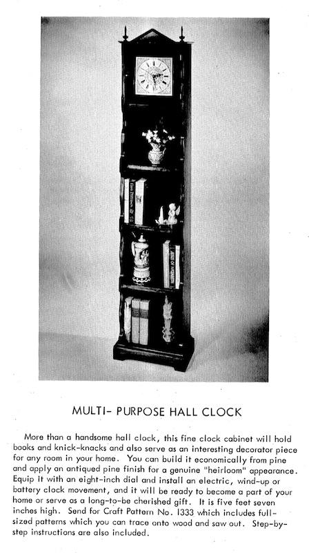 Multi Purpose Hall Clock Vintage Woodworking Plan
