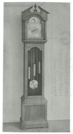 Grandfather Clock with Break-Arch Vintage Woodworking Plan.