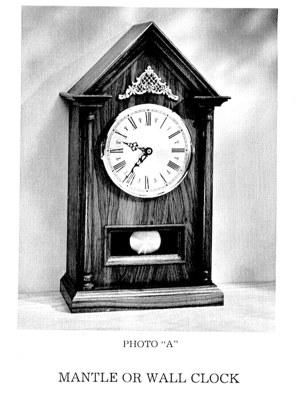 Mantle or Wall Clock Vintage Woodworking Plan