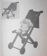 Stow and Stroll Stoller Vintage Woodworking Plan, doll strollers,folding stroller,doll furniture,full sized patterns,vintage woodworking plans,old projects,recycled,woodworkers projects,blueprints,drawings,blueprints,how-to-build