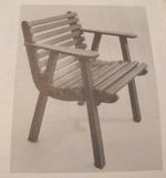 Contoured Lawn Chair Vintage Woodworking Plan.