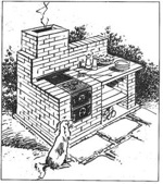 Brick Barbecue Vintage Woodworking Plan.