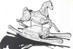 Build-It-Yourself Rocking Horse Vintage Woodworking Plan.