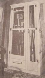 Rod and Gun Cabinet Vintage Woodworking Plan.