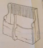 Cap Cod Cranberry Scoop Magazine Rack plus 2 Vintage Woodworking Plan, magazine racks,cranberry scoops,corner shelves,small chests,full sized patterns,vintage woodworking plans,old projects,recycled,woodworkers projects,blueprints,drawings,blueprints,how-to-build